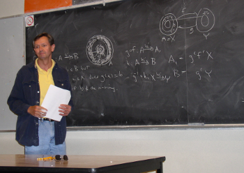 Picture of Michael Jubien teaching set theory